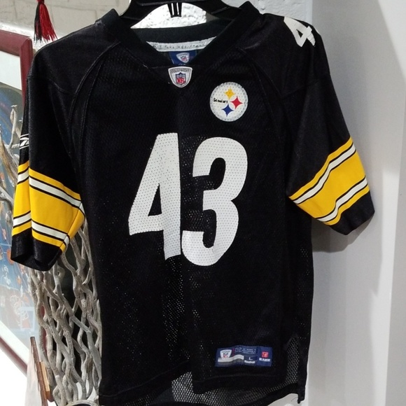 b566cc6b01f NFL Shirts & Tops | Pittsburgh Steelers Troy Polamalu 43 Youth Size ...